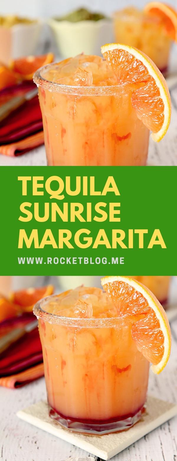 Tequila Sunrise Margarita #FRESHDRINK