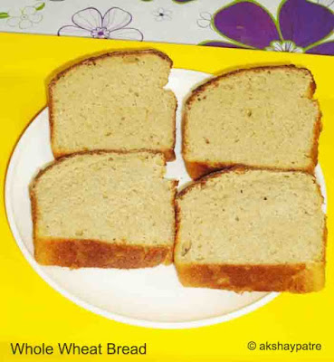 whole wheat bread on a plate