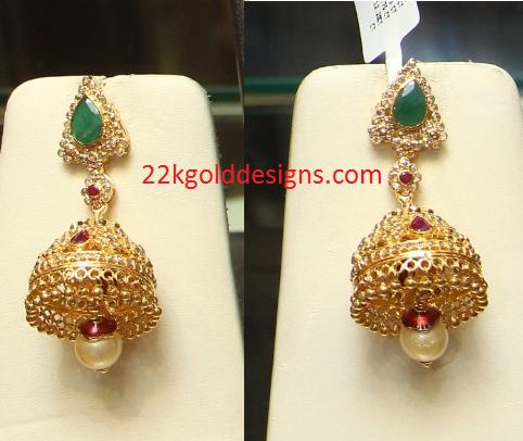 Emerald Uncut Jhumkas