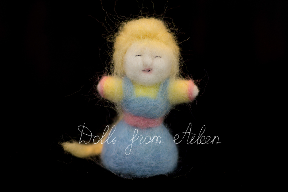 OOAK needle felted woman doll