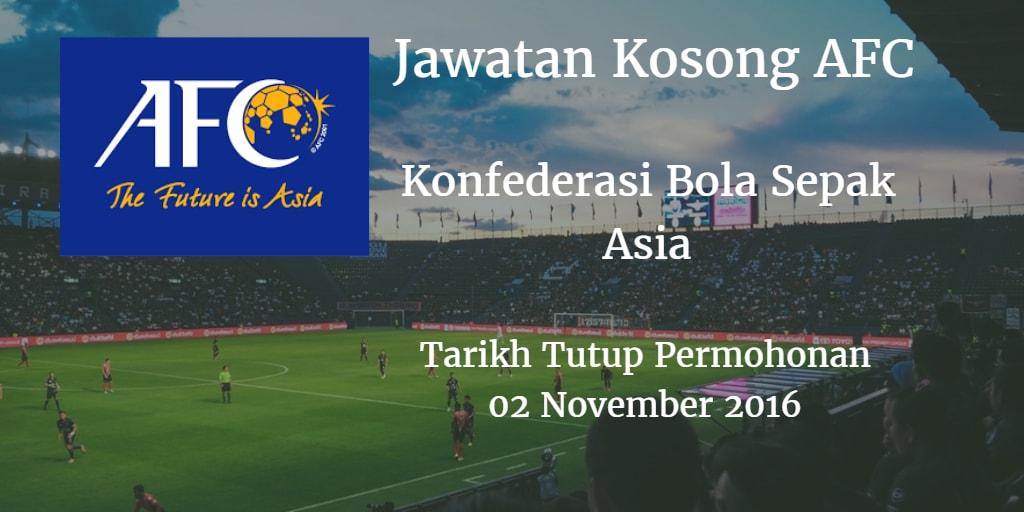 Jawatan Kosong AFC 02 November 2016