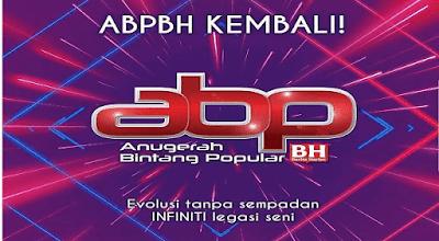 Live Streaming Anugerah Bintang Popular BH 31 ABPBH 2018
