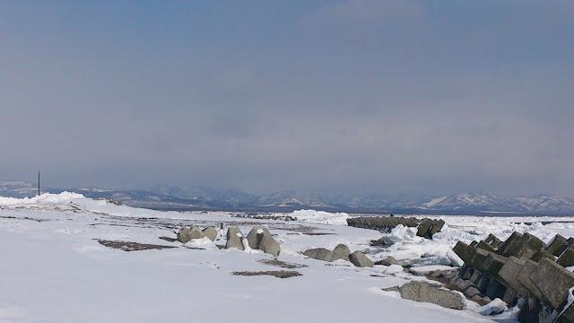 流氷接岸(標津町)