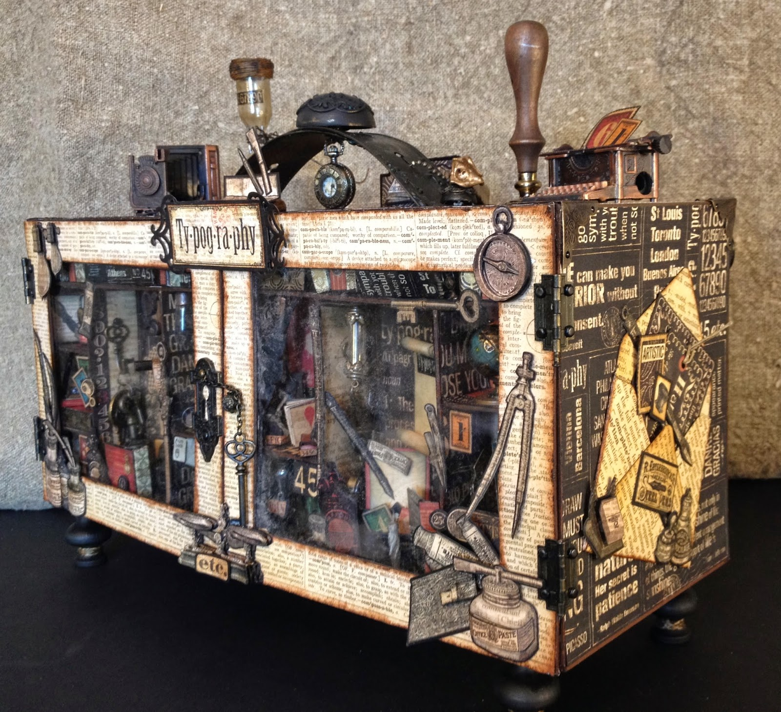 Annes Papercreations Graphic 45 Typography Suitcase