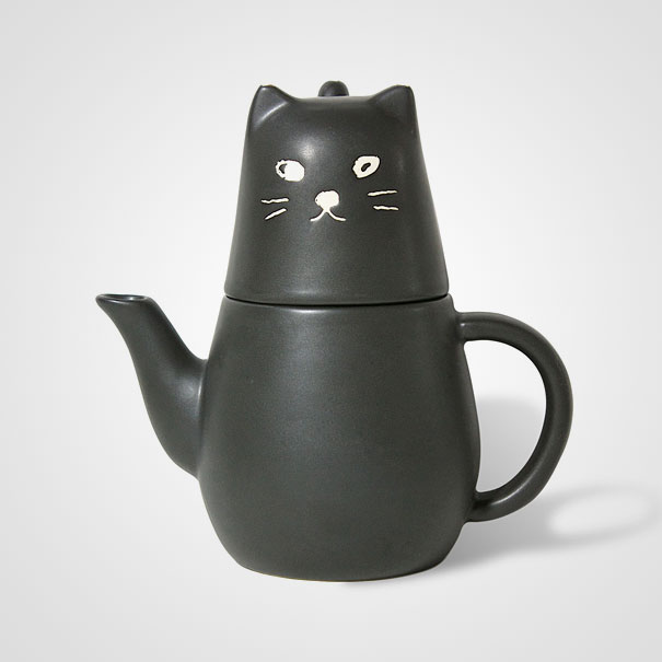 Black Cat Tea For One Set