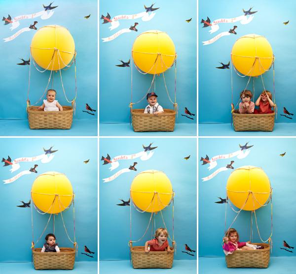 KIDS' HOT AIR BALLOON PHOTOBOOTH DIY ~ Home Decorating Ideas