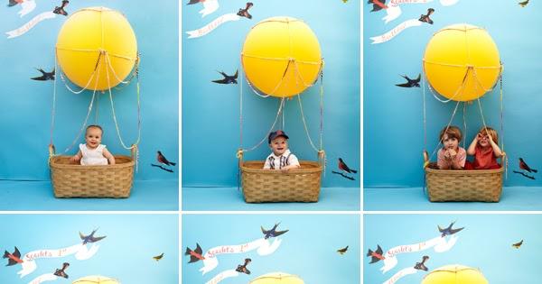Kids Hot Air Balloon Photobooth Diy Home Decorating Ideas