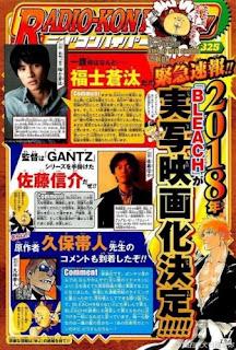 Bleach Live Action Resmi Dikonfirmasi, Pemeran iIchigo Kurosaki Diperlihatkan