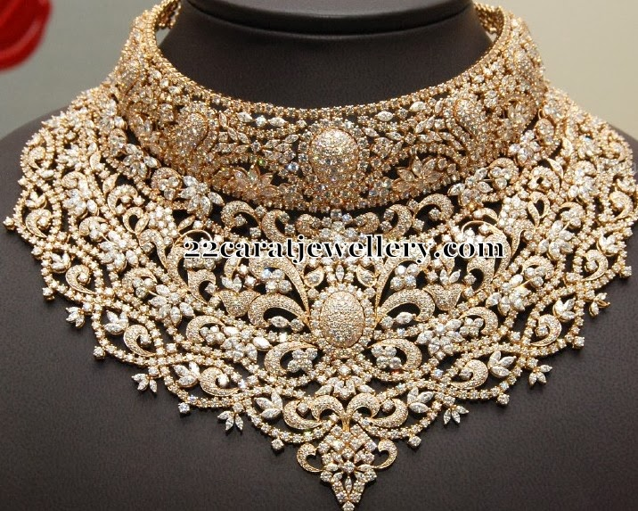 Kirtilals Largest Diamond Sets Collection  Jewellery Designs
