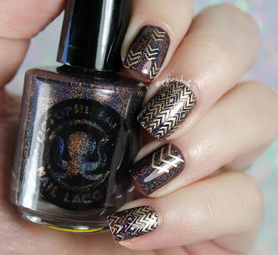 Octopus Party Nail Lacquer Prey For Me Golden Stamping
