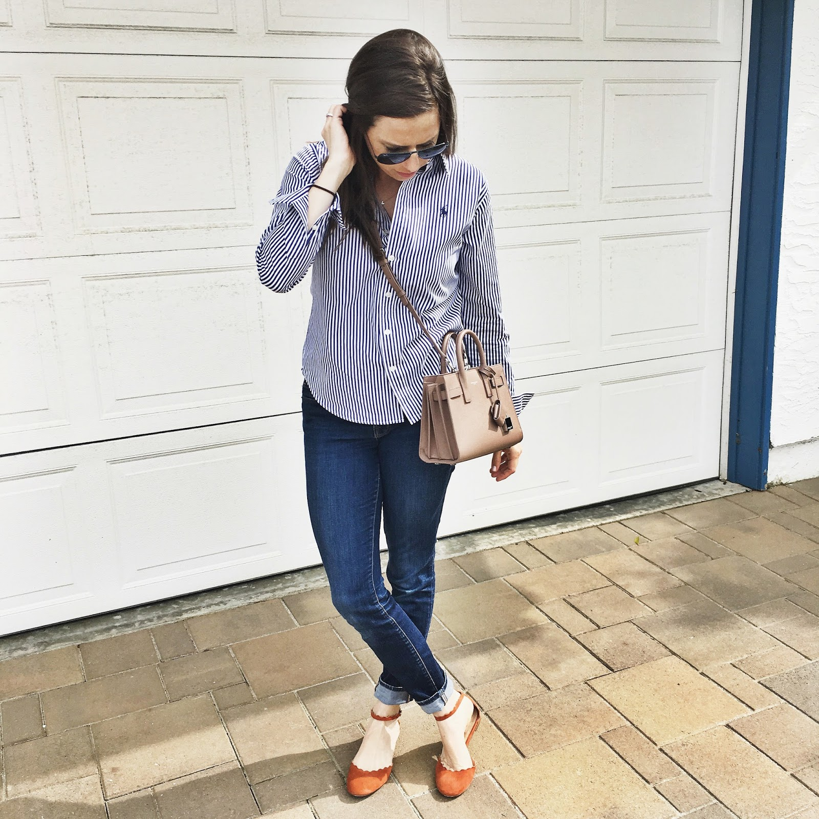 button up and jeans outfit