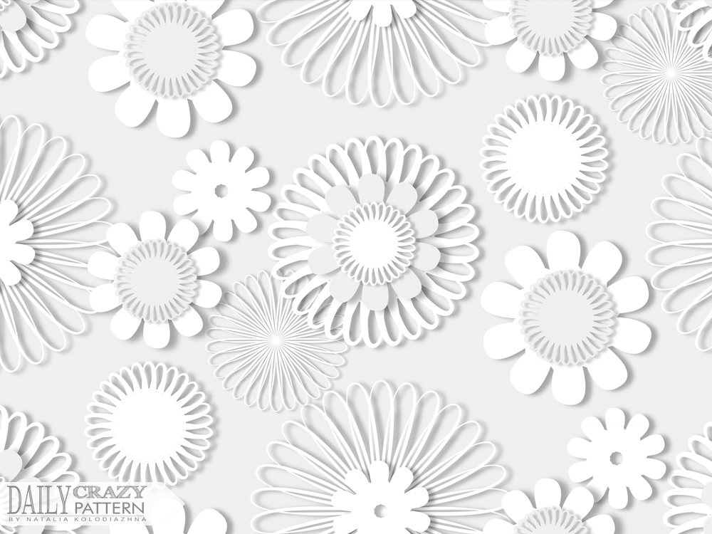"Stunning white pattern for ""Daily Crazy Pattern"" project 
