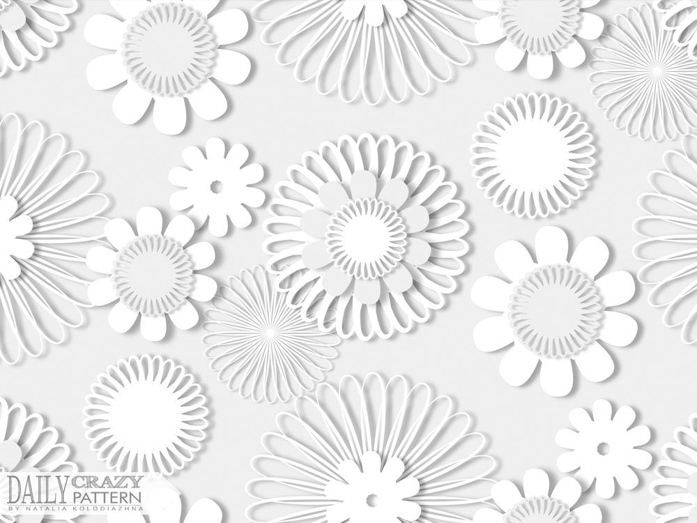 "Stunning white pattern for ""Daily Crazy Pattern"" project | Natalia Kolodiazhna"