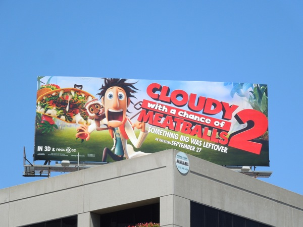 Cloudy Chance of Meatballs 2 movie billboard
