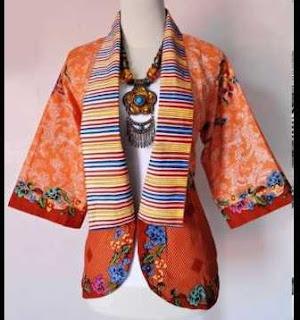 Desain baju batik blazer trendy