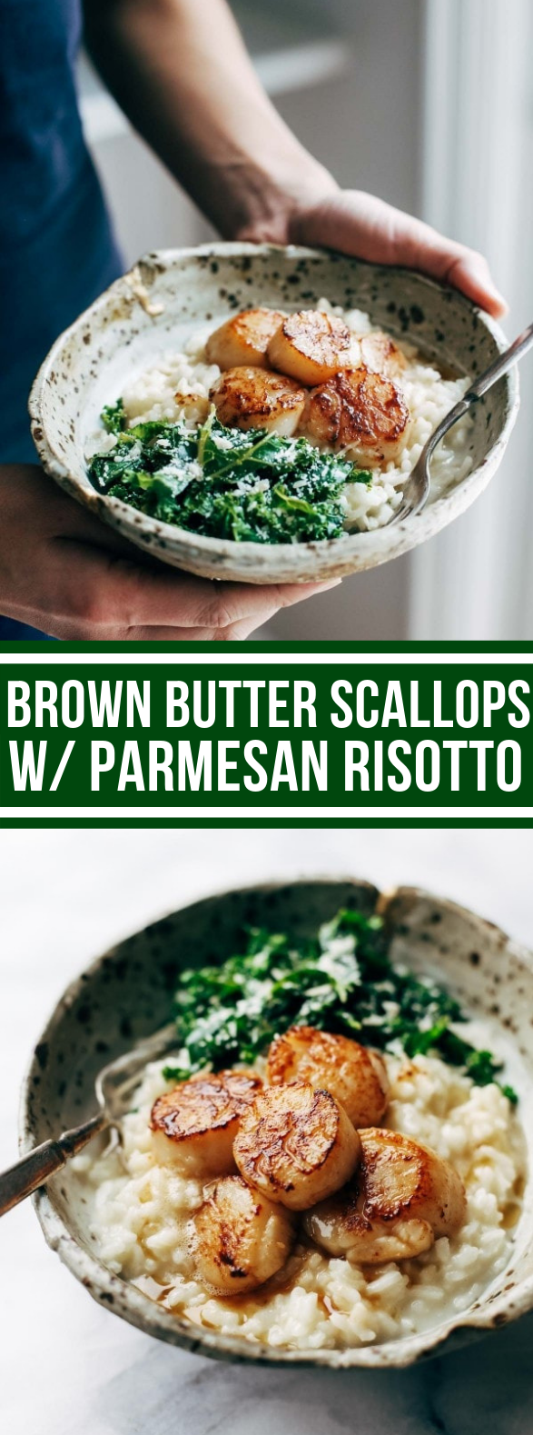 Brown Butter Scallops with Parmesan Risotto #dinner #bestrecipe