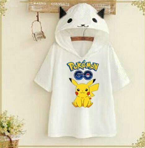 Jual Blouse Kaos Pokemon Go Hoodie - 12743
