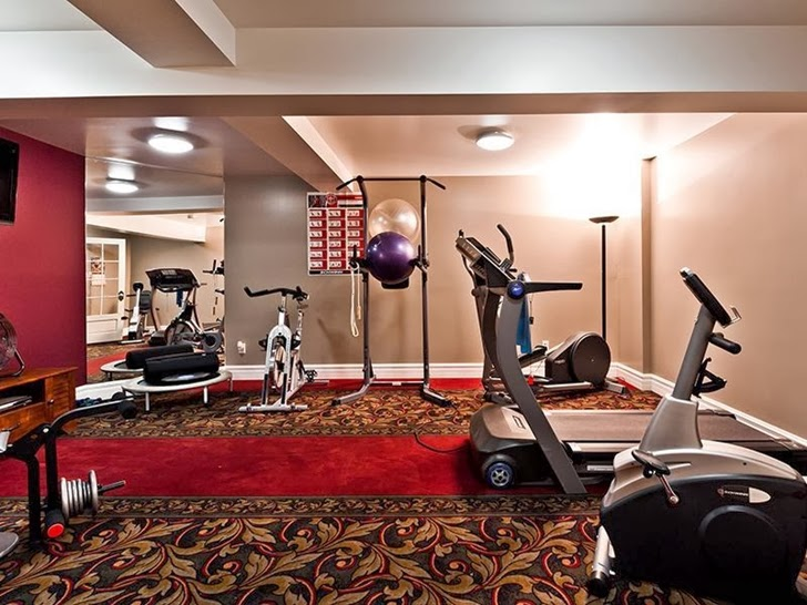 Gym in Outstanding custom built house in Canada