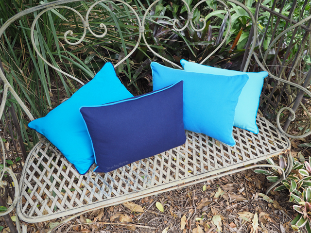 Make a set of piped cushion / pillow covers ~ Threading My Way