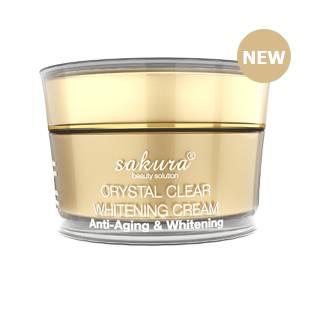 Kem dưỡng trắng da mặt Sakura Crystal Clear Whitening Cream Anti-aging & Whitening  có tốt không?