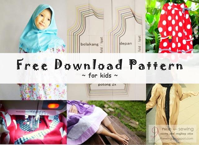 gratis download pola gamis anak