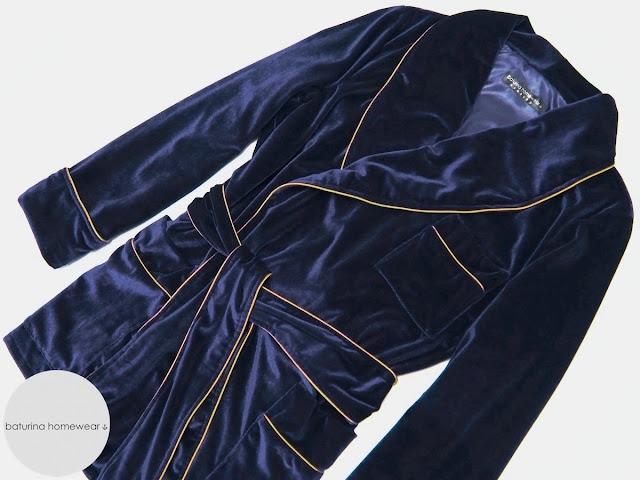 Mens luxury velvet smoking jacket robe bespoke gentleman dressing gown navy blue