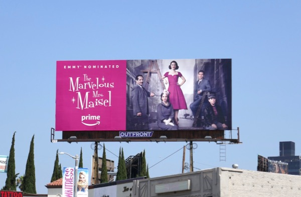 Marvelous Mrs Maisel season 1 Emmy nominee billboard