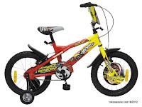 Sepeda Anak Wimcycle Hotwheels 16 Inci