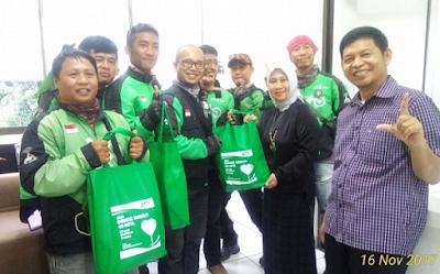 Rayakan HUT, BPJS Ketenagakerjaan Bandarlampung Ajak Mitra Gojek Donor Darah