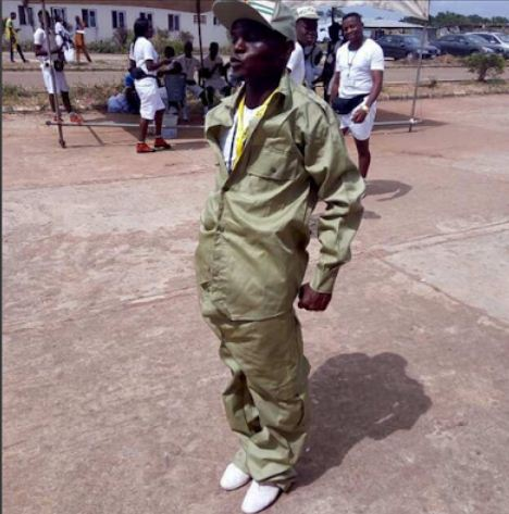 Lol…see the 'jumbo' sized khaki given to an Ogun state corps member