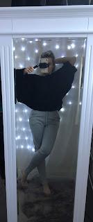 bat wing oversized jumper
