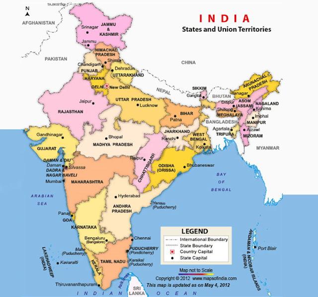 خريطة الهند India Map