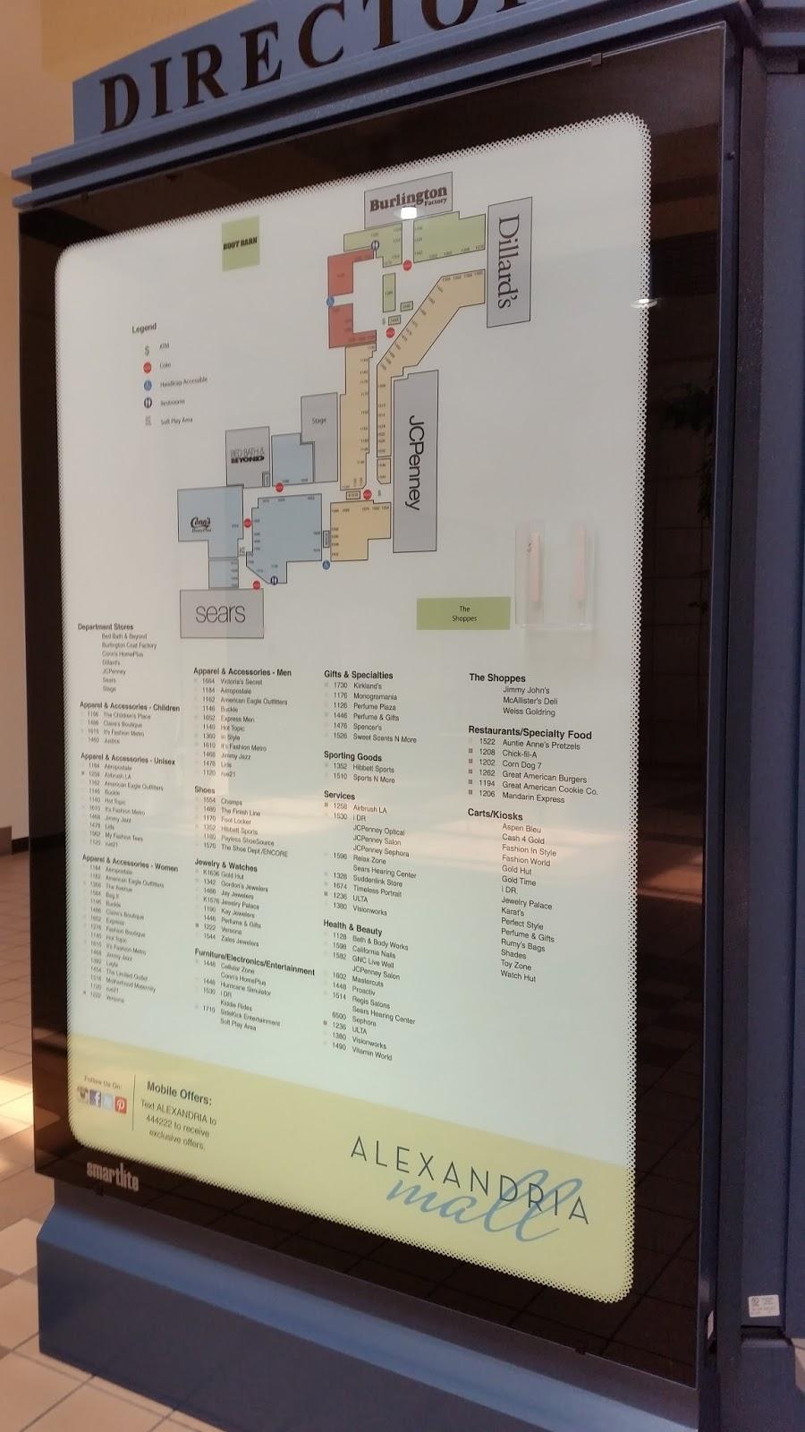 Alexandria Mall Stores : alexandria, stores, Louisiana, Texas, Retail, Blogspot:, Alexandria, Update
