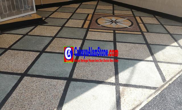 Jasa Pembuatan Lantai Garasi Carport Dengan Batu Alam