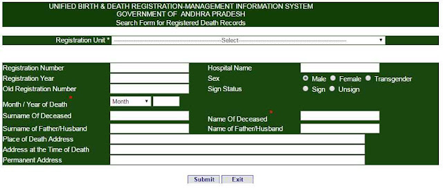 Death Certificate Online | Death records