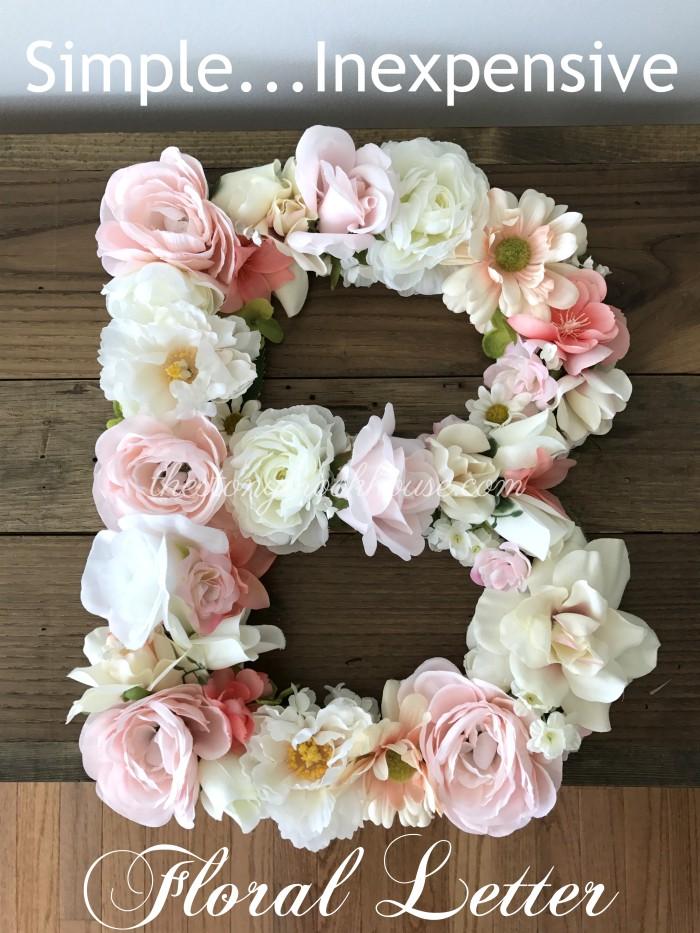 Easy Floral Letter
