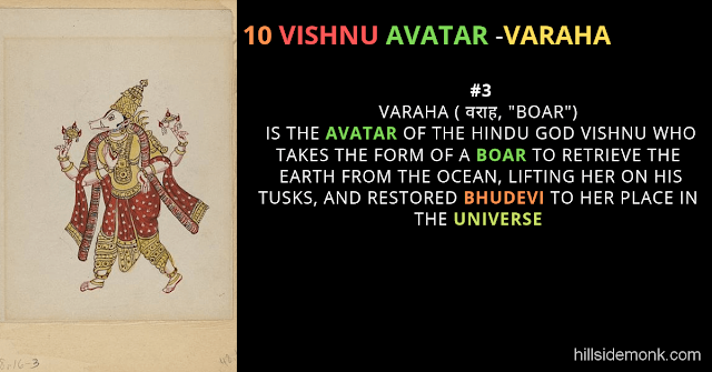 10 Vishnu Avatar In Hinduism-VARAHA