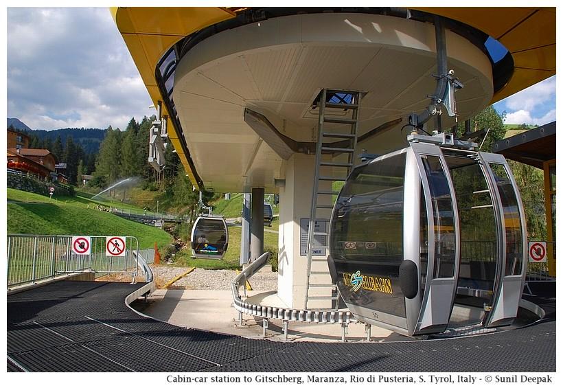 Gitschberg cabin-car station, Maranza (Rio di Pusteria, Alto Adige, Italy) - Images by Sunil Deepak