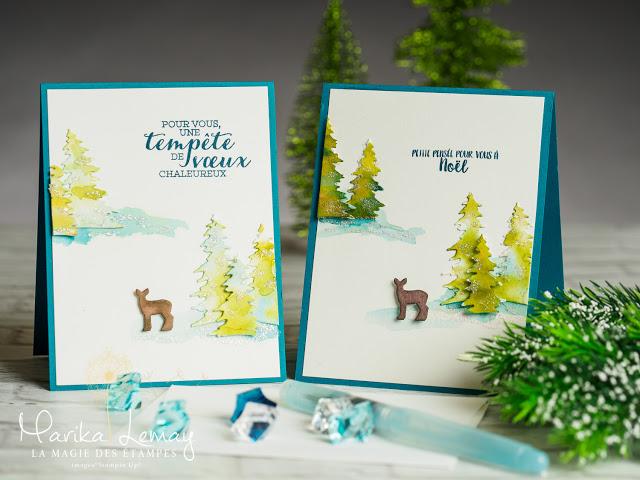 cartes de Noël aquarelle