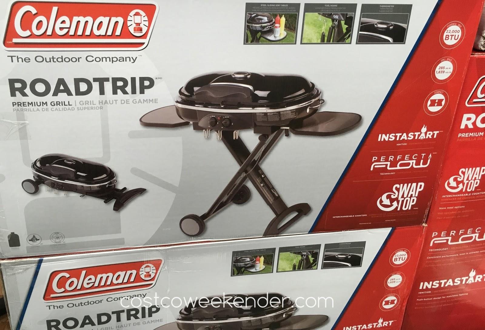Costco Portable Bbq : Coleman roadtrip portable lxx premium grill costco weekender