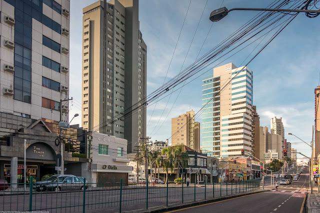 Um trecho da Av. João Gualberto
