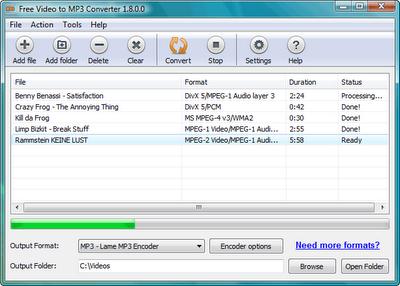 تحميل برنامج تحويل الفيديو الى mp3 للكمبيوتر Download Free Video to MP3 Converter