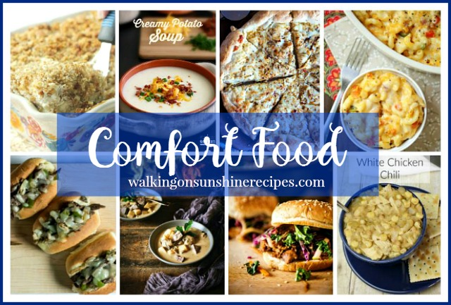 Easy comfort food is featured this week with our Delicious Dishes Recipe Party from Walking on Sunshine.