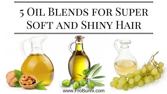 5 Oil Blends for Super Soft and Shiny Hair