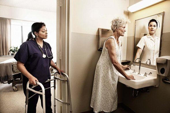 reflections of the elderly photo series nurse