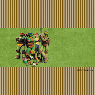 Ninja Turtles, Free Printable Candy Bar Labels.
