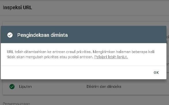 Cara Submit URL Di Google Webmaster Baru Supaya Cepat Terindeks