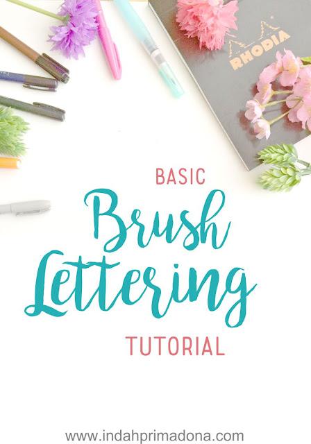 belajar brush lettering, brush lettering tutorial, lettering untuk pemula, basic strokes lettering