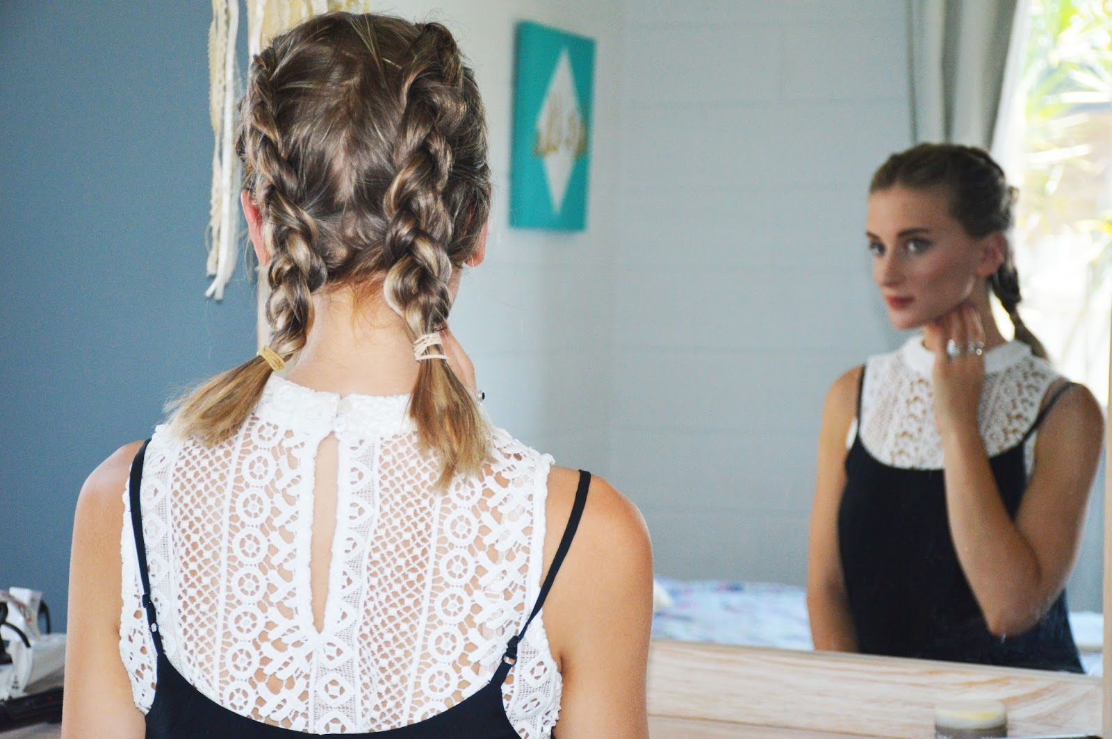 3 Braided Hairstyles For A Lob Or Mid Length Hair The Daily Luxe
