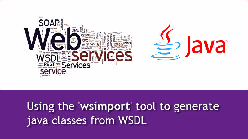 How to parse a WSDL file using 'wsimport' tool and generate java classes?